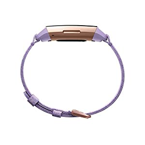 Fitbit Charge 3 SE Fitness Activity Tracker, Lavender Woven, One Size (S and L Bands Included)