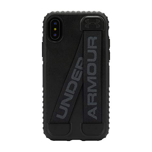 Under Armour Phone Case | for Apple iPhone Xs and iPhone X | Under Armour UA Protect Handle-It Case with Rugged Design and Drop Protection - Black/Stealth