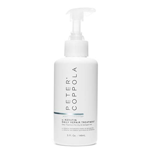 Peter Coppola a-Keratin Daily Repair Treatment - Leave-In Hair Mask - Deep Hydrating and Nourishing Leave-In Conditioner with Pump - Strong Healthy Hair - Infused with Natural Essential Oils, 5 oz.