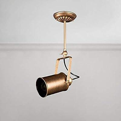 NIUYAO Vintage Industrial Ceiling Spotlight, Retro Adjustable Metal Track Lighting Fixture for Office Loft Hall Bedroom Restaurant Hotel Coffee Shop 4 Lamp Antique Bronze