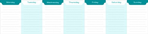 Weekly Planner Keyboard Pad (Daily Planner, Note Pad)