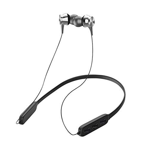 dragonaur-home decor Auriculares Bluetooth ligeros con reducción de ruido inalámbricos, banda magnética para el cuello, resistentes al agua, deportes intraurales, al azar