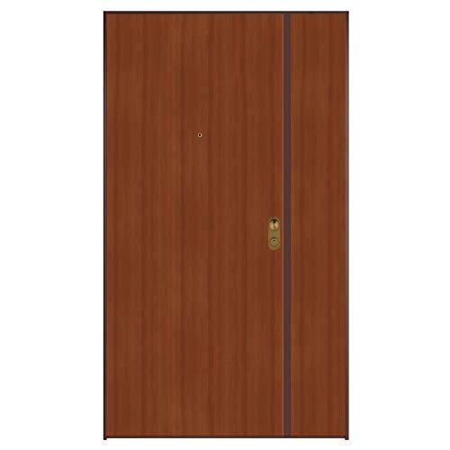 Porta blindata ingresso 883 2 ante 900+300x2100 dx colore Mogano/Bianco Di.Bi. Porte Blindate srl