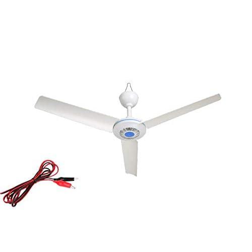 """28"""" inch 12V DC Ceiling Fan 12V Battery Power ceiling fan Portable ceiling fan"""