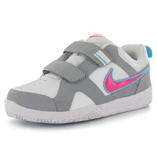 Nike , Mädchen Tennisschuhe, Weiß - Weiß/Rosa - Größe: 33.5 EU
