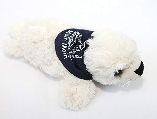 Seehund Robbe FLAPSCH superweiches Plüschtier mit Halstuch Moin Moin (18 cm, Beige)