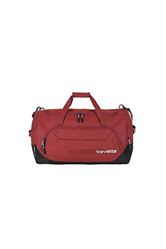 travelite große Reisetasche Größe L, Gepäck Serie KICK OFF: Praktische Reisetasche für Urlaub und Sport, 006915-10, 60 cm, 73 Liter, rot