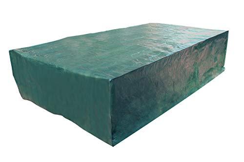 Laxllent Housse de Protection pour Table Bâche,315X165X70CM,Couverture de Meubles de Jardin en PE Anti-poussière Imperméable,Rectangulaire,Vert