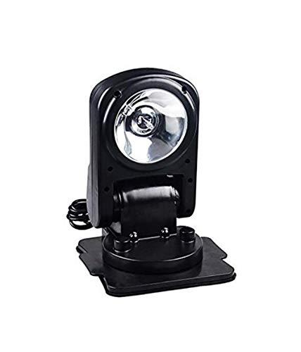 Awsgtdrtg 360 Degrés Autour De Noir Search Light Projecteur De Travail Projecteur Spot Beam Télécommande Magnétique Bateau Marine Offroad SUV Voiture Jeep Camion Véhicule 12 V