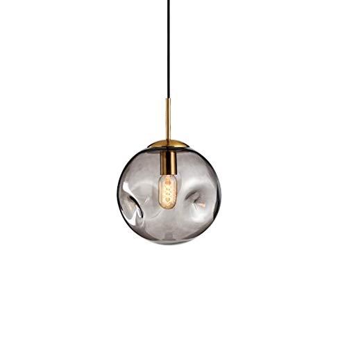 Remache Moderno colgante de araña de techo colgante de mediados de siglo, metal negro con globos de vidrio XYJGWDD (Color : B)