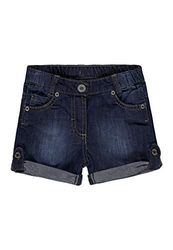Steiff Baby-Mädchen Jeans Shorts, Blau (Blue Denim 0013), 86