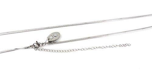 Exklusive fein gearbeitete Schlangenkette Magnet Halskette Energetix 4you 960 uni silber mit Magnetix Magnetplättchen 419 Länge 40 bis 50 cm Beste Qualität