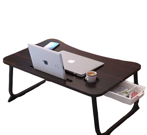 Laptop Desk Portable Laptop Bed Tray Table Notebook Stand Reading Holder with Foldable Legs Laptop Stand for Bed and Sofa (Black)