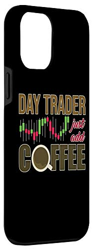 31ulPmVywPL - iPhone 12 Pro Max Day Trader Just Add Coffee - Stock Market Trading Investor Case