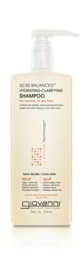 GIOVANNI 50:50 Balanced Hydrating Clarifying Shampoo, 24 oz....