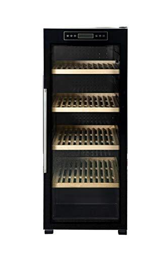 Respekta - Frigorifero per vino, 186 bottiglie, colore nero