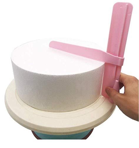 TrifyCore - 1 rascador para Tartas de Color Crema, Plantilla Ajustable para Decorar Tartas de Navidad, Bodas, cumpleaños, Pasteles
