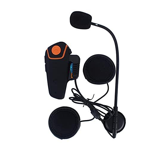 BT-s2 Sistema De Comunicación por Intercomunicador para Motocicleta, Auriculares Bluetooth para Motocicleta con Micrófono, Auriculares Inalámbricos para Casco para ATV/Dirt Bike/Off Road