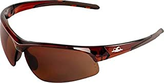 Polarized Precision Brown Lens Professional Grade Products BH161012 Bullhead Safety Eye Protection Glasses Woodland Camo Frame//Temple TPR Nose and Temple Sleeves