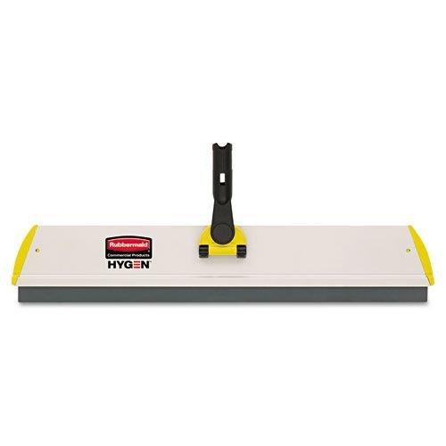 Rubbermaid Commercial Microfiber Quick Connect Frame, Squeegee, 24 Inch Width x 4 1/2 Depth, Aluminum, Yellow (Q570)