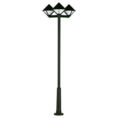 Lampadaire 3 unités cône 210 cm en fonte d'aluminium noire et verre