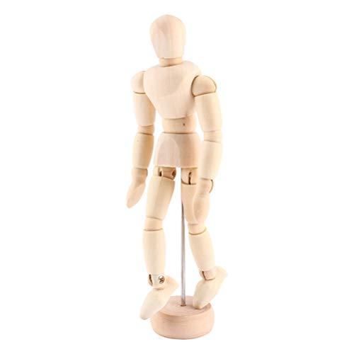 Ysoom Gliederpuppe - Künstler Puppe aus Holz, Modellpuppe, Holzpuppe, Zeichenpuppe aus Holz Malhilfe zum Zeichnen Modellpuppe mit Gelenken