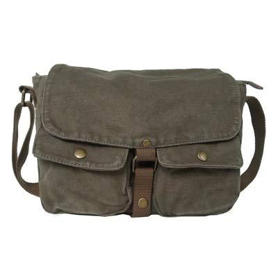 Nueva llegada de moda hombres bolsas de lona casual mensajero cremallera hombres bolsa lateral marca Hasp cubierta bolsa hombres bolsas de viaje hombres verde ejército