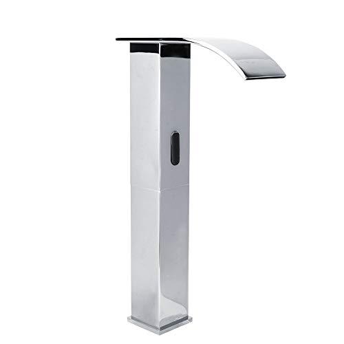ViaGasaFamido G1 / 2' Grifo para Fregadero de baño sin Contacto Sensor infrarrojo de Cascada Grifo inductivo automático de frío y Caliente de Alta, Grifo de Agua para baño Manos Libres