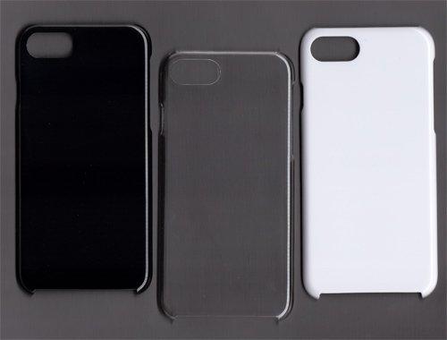 iPhone8/iPhoneSE (第2世代) 4.7inchモデル ポリカーボネート製 (PC) 無地 スマホ ケース スマホカバー ブラック 黒色 アイフォン アイホン エイト エスイー2