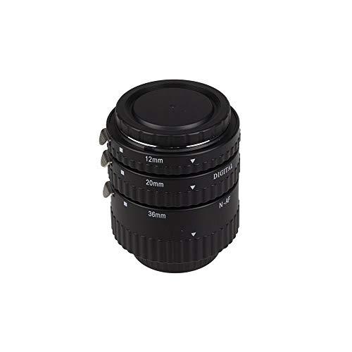 Meike MK-N-AF1-B - Set di 3 anelli di estensione per fotocamera Nikon SLR