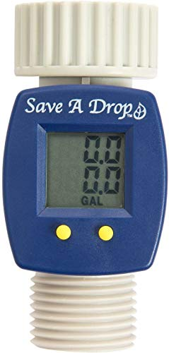 P3 Save A Drop Water Flow Meter | Measure Gallon Usage From an Outdoor Garden Hose | Helps Conserve Water