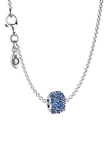 Pandora Halskette mit Charm Chiselled Elegance Sea Blue 08691