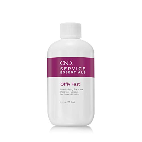 CND Shellac OFFLY FAST Moisturizing Nail Polish Remover, Removes Gel, Liquid & Powder, Wraps, Adhesives and Tips from Natural Nails, 7.5 fl oz