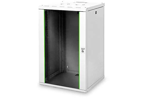 Gabinete de pared DIGITUS Professional 20U - 600 mm de profundidad - Gabinete de pared Unique, serie en gris con construcción robusta de chapa de acero