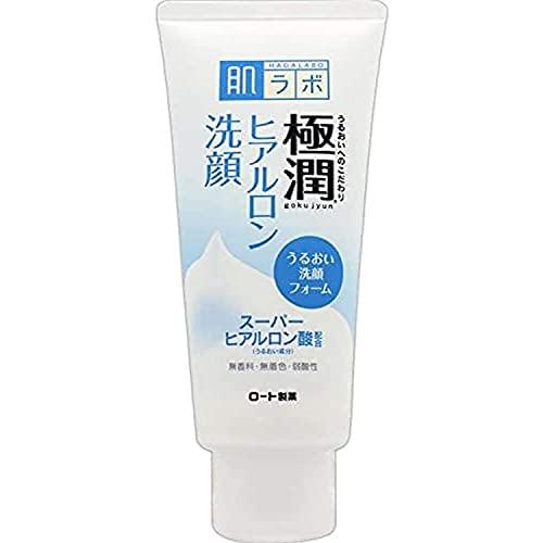 Hada Labo Rohto Gokujun Hyaluronic Face Wash - 100g, White, 3.52 Ounce (Pack of 1)