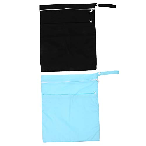 HEALLILY 2 Pzas Bolsa de Almacenamiento de Pañales de Bebé Impermeable Reutilizable Pañalera Bolsas Húmedas Secas para Pañales de Tela Ropa Traje de Baño