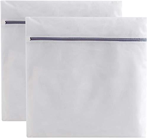 Runtoo Bolsa para Lavadora Grande 2 Paquete XXL 90 x 90 cm Bolsa de Lavanderia Bolsa para la Colada con Cremallera Cerrada Bolsa Malla de Lavandería Protección Completa Reutilizable