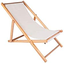 High-quality recliner Zero Gravity Chair Outdoor Wood Folding Deck Chair, Siesta Chaise Sun Lounger Collapsible Recliner Chair for Balcony Beach Garden Sun Lounger (Color : White)