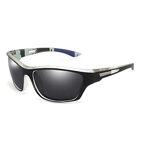 Gafas de Sol Sunglasses Gafas De Sol Polarizadas De Pesca para Hombre, Gafas De Sol para Conducir Al Aire Libre, Protección UV, Gafas De Viaje para Hombre, Gafas C5WhitebAnti-UV