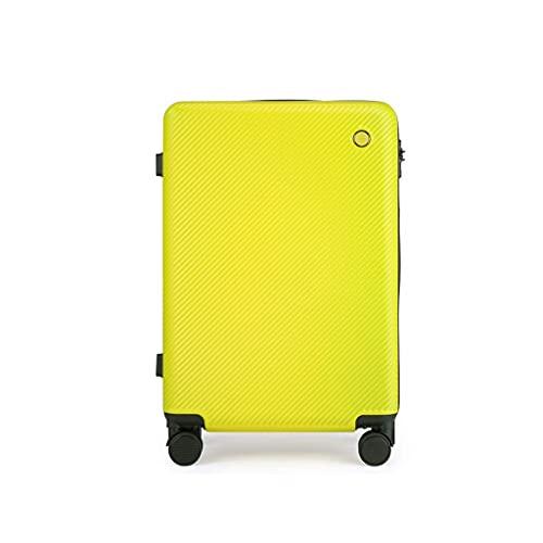 JIAWYJ Maleta portátil/Cremallera Equipaje Conjuntos Suitcases Bolsa Ruedas Ruedas Viajes Ligeros con Maletaseshand 24 Pulgadas/Código de Productos básicos: LWH-18 (Color : Yellow)