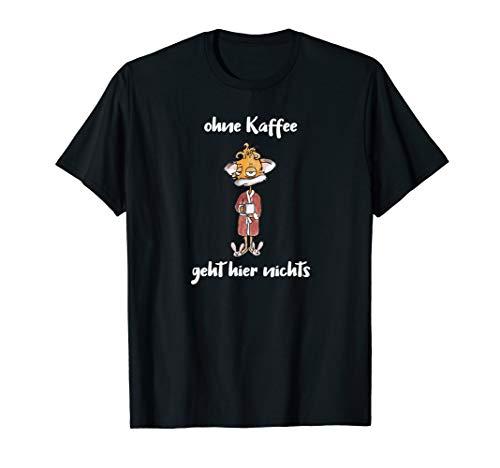 Müder Kaffee Fuchs im Bademantel - Lustig Arbeit und Büro T-Shirt