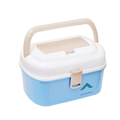 WYQ - Caja de medicina de múltiples capas portátil caja de almacenamiento de drogas familia niño primeros auxilios kit plástico tienda