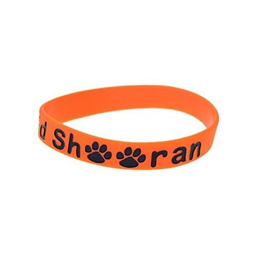 Xi-Link Pulsera Ed Sheeran Pulsera De Silicona con Una Estrella Debe Ser Una Mano De Ayuda (Color : Orange)