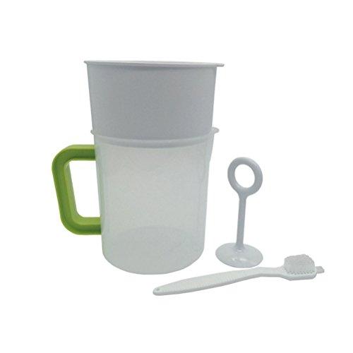 BESTONZON Milk Milk Milk - Set di 4 filtri in acciaio inox da 1,5 l, riutilizzabili