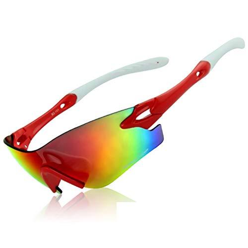 Minamoto Chisei Gafas De Sol Deportivas Avanzadas Conjunto De Lentes Polarizadas 100% Protección UV Moda Ciclista For Hombres YANJI 0813 (Color : E)