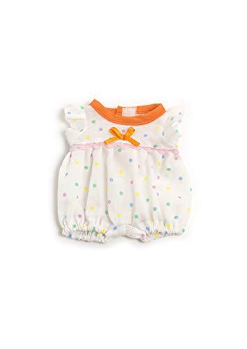 Miniland 31674 Puppenkleidung, weiß, blau, orange, rosa, 21cm