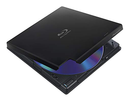 PIONEER Blu-ray Recorder, USB 3.0, 6x/8x/24x, Slimline Portable, schwarz, Top Load, BDXL, M-DISC, Software, Retail