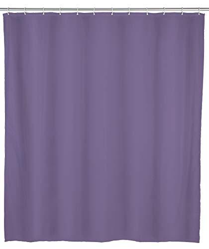 Allstar Duschvorhang Zen Lila - wasserabweisend, leicht zu pflegen, Polyethylen-Vinylacetat, 120 x 200 cm, Lila