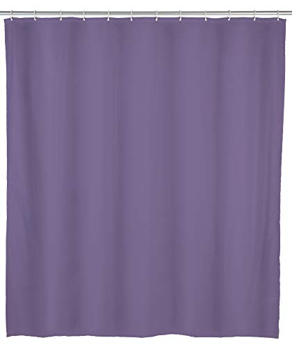 Allstar 70032400 Duschvorhang Zen, wasserabweisend, leicht zu pflegen, 120 x 200 cm, Lila