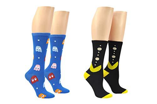 S Pairs of Pac-Man Crew Socks, Unisex